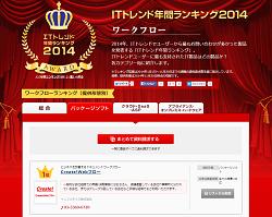 ITトレンド2014_Create!Webフローがワークフローパッケージ部門第1位